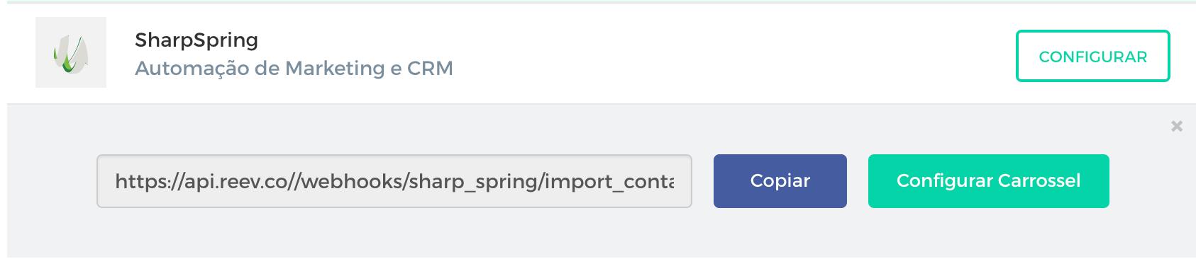 integração reev sharpspring